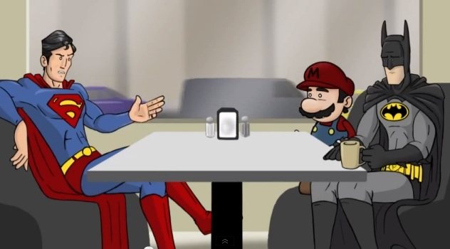 Superman Mario Batman HISHE