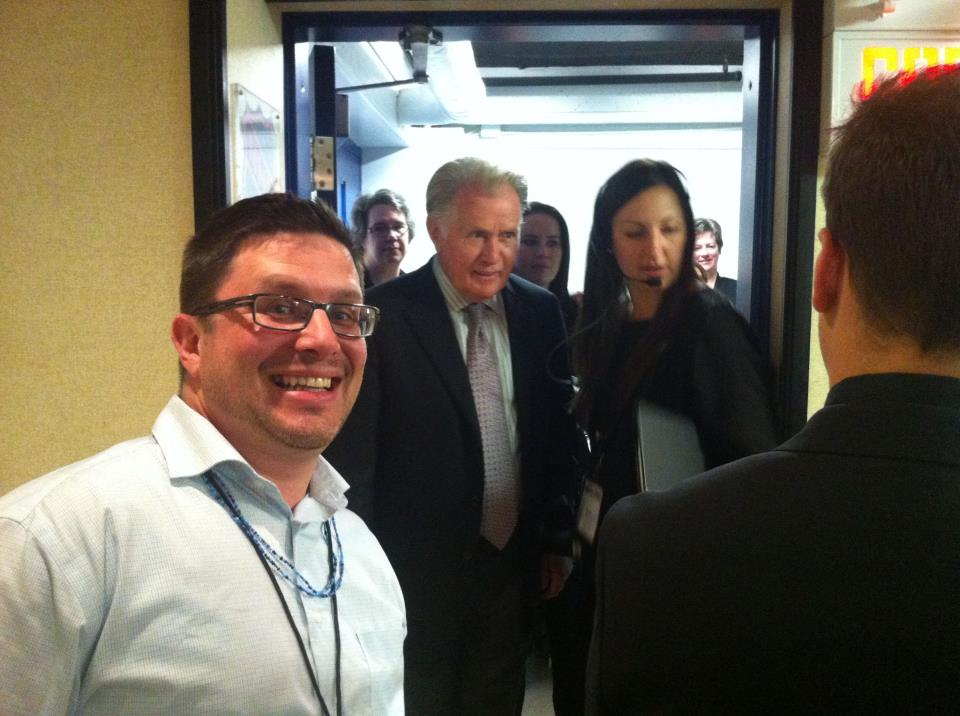 Photo Bombing Martin Sheen!