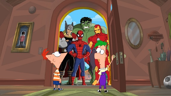 Phineas Ferb Marvel