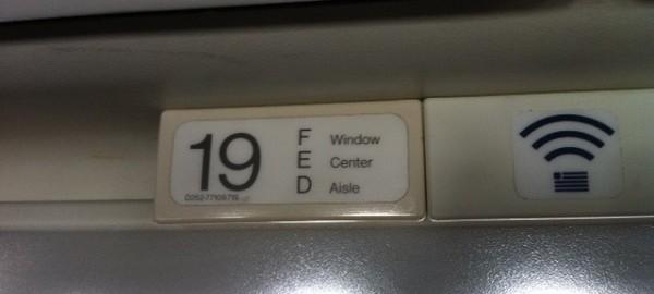 Seat 19D