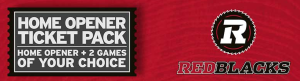 Ottawa RedBlacks Ticket Pack