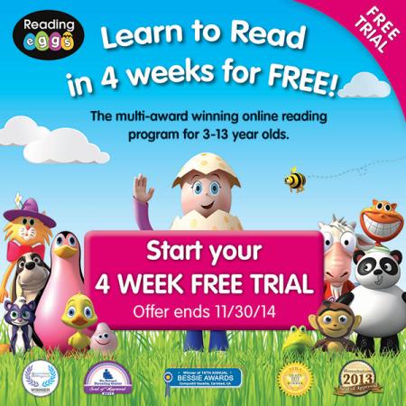 4 Week Trial - Reading Eggs