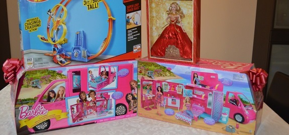 Mattel Holiday Barbie Hot Wheels