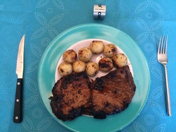 Cookina Grilling Sheet Steak Vegetables