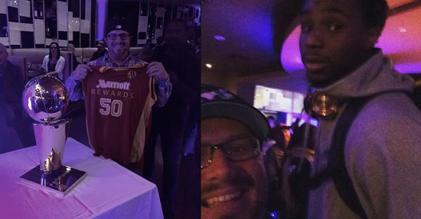 Wiggins NBA Larry O'Brien Marriott