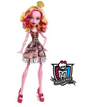 Mattel Monster High 17 Inch Tall Freak Du Chic Gooliope Jellington Doll
