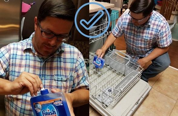 finish dishwasher label