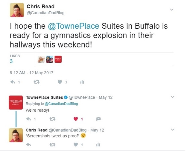 TownePlace Suites Tweet