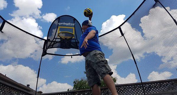 Dad Springfree Trampoline Slam