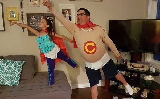Dad Daughter Superhero