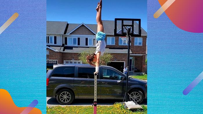 Gymnast Bars Handstand